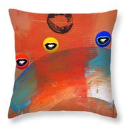 Ride A White Wave Throw Pillow by Charles Stuart
