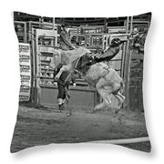 Ride 'em Cowboy Throw Pillow by Shawn Naranjo