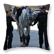 Riot Horse Throw Pillow by Andrew Fare