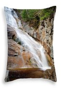 Ripley Falls - Crawford Notch State Park New Hampshire Usa Throw Pillow by Erin Paul Donovan