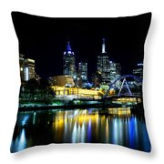 Riverside Throw Pillow by Andrew Paranavitana