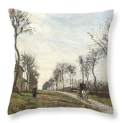 Road in Louveciennes Throw Pillow by Camille Pissarro