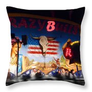 Rodeo Ride Throw Pillow by Charles Stuart