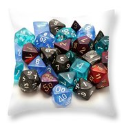 Role-playing Dices Throw Pillow by Fabrizio Troiani