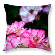 Rose 121 Throw Pillow by Pamela Cooper