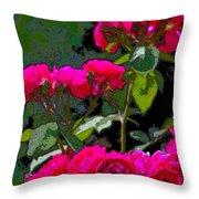 Rose 135 Throw Pillow by Pamela Cooper