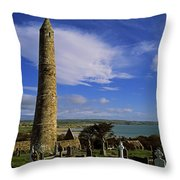 Round Tower, Ardmore, Co Waterford Throw Pillow by The Irish Image Collection