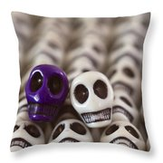 Royal Purple And White Throw Pillow by Mike Herdering
