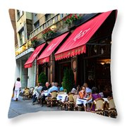 Rue 57 Nyc Throw Pillow by Paul Ward