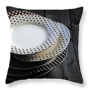 Rural Plates Throw Pillow by Joana Kruse