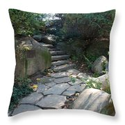 Rural Steps Throw Pillow by Rob Hans