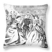 RUSSIAN VISIT, 1863 Throw Pillow by Granger