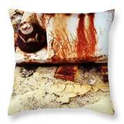 Rusty Bolt Abstraction Throw Pillow by Anna Villarreal Garbis