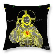 Sacred Heart Throw Pillow by Al Bourassa