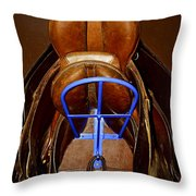 Saddles Throw Pillow by Elena Elisseeva