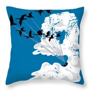 Sailing Cloud Nine Throw Pillow by Laura Brightwood