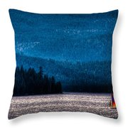 Sailing Priest Lake Throw Pillow by David Patterson