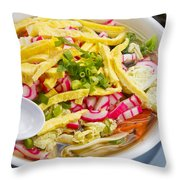 Saimin Bowl Throw Pillow by Ron Dahlquist