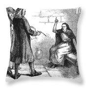 Salem Trials: Martha Corey Throw Pillow by Granger