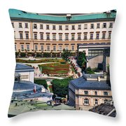 Salzburg II Austria Europe Throw Pillow by Sabine Jacobs