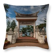 Samila Garden Throw Pillow by Adrian Evans
