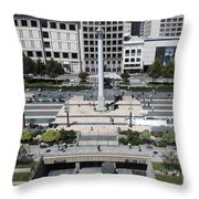 San Francisco - Union Square - 5D17942 Throw Pillow by Wingsdomain Art and Photography
