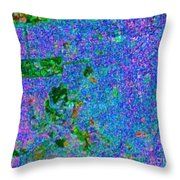 San Francisco California Usa - Abstract - Painterly Throw Pillow by Wingsdomain Art and Photography