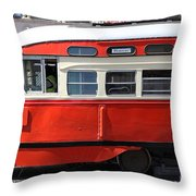 San Francisco Vintage Streetcar On Market Street - 5d18001 Throw Pillow by Wingsdomain Art and Photography