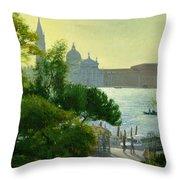 San Giorgio - Venice  Throw Pillow by Timothy Easton