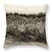 Sand Dune In Sepia Throw Pillow by Bill Cannon