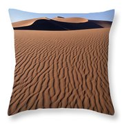 Sand Dunes Against Clear Sky Throw Pillow by Axiom Photographic