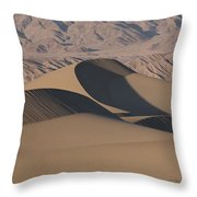 Sand Dunes In Death Valley Throw Pillow by Marc Moritsch