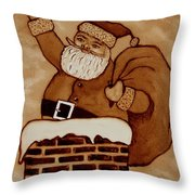 Santa Claus Is Coming Throw Pillow by Georgeta  Blanaru