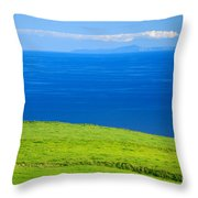 Santa Maria and Sao Miguel Throw Pillow by Gaspar Avila
