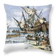 Santa Maria: Wreck, 1492 Throw Pillow by Granger