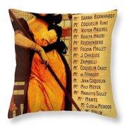 Sarah Bernhardt Throw Pillow by Georgia Fowler