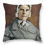 Sarah Moore Grimke Throw Pillow by Granger