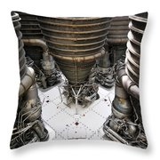 Saturn Five Throw Pillow by David Lee Thompson