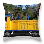 Scale Locomotive - Traintown Sonoma California - 5D19237 Throw Pillow by Wingsdomain Art and Photography