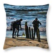 Scuba Divers Throw Pillow by Paul Ward