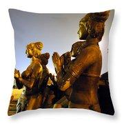 Sculpture Of Women Throw Pillow by Sumit Mehndiratta