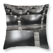 Sea Of Seats I Throw Pillow by Anna Villarreal Garbis