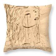 Sea Woman 2 Throw Pillow by Georgeta  Blanaru
