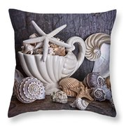 Seashells Throw Pillow by Tom Mc Nemar