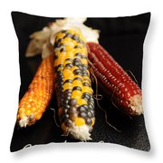 Season's Greetings- Thanksgiving Card No. 1 Throw Pillow by Luke Moore