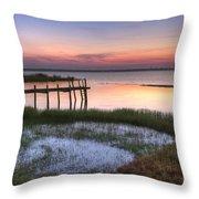 Sebring Sunrise Throw Pillow by Debra and Dave Vanderlaan