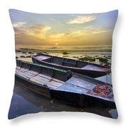 Secret Of The Sea Throw Pillow by Debra and Dave Vanderlaan