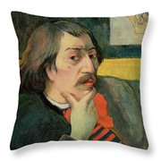 Self Portrait Throw Pillow by Paul Gauguin