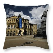 Semper Opera House Dresden - A Beautiful Sight Throw Pillow by Christine Till