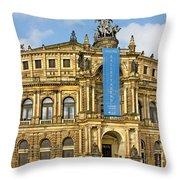 Semper Opera House Dresden Throw Pillow by Christine Till